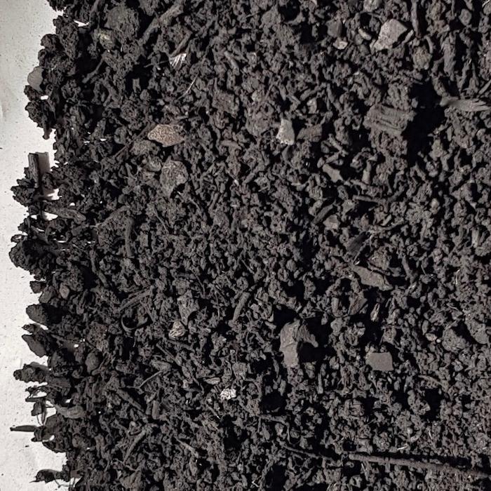 raw biochar from feedstock