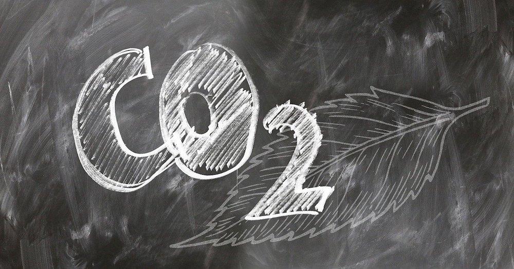 carbon dioxide co2 blackboard